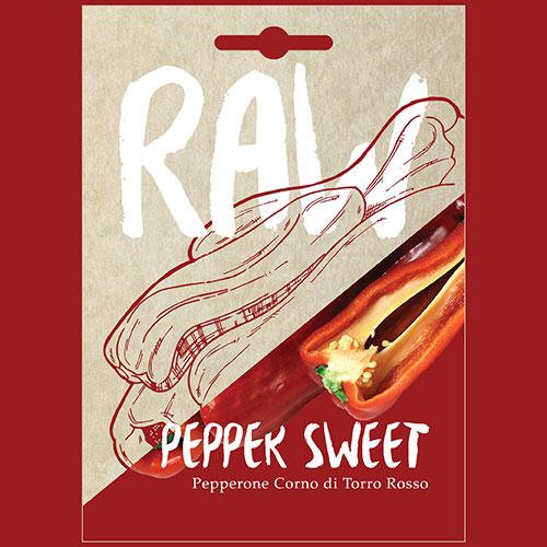 Pepper Sweet Pepperone Corno di Torro Rosso