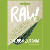 RAW Squash Zucchini Striato D' Italia